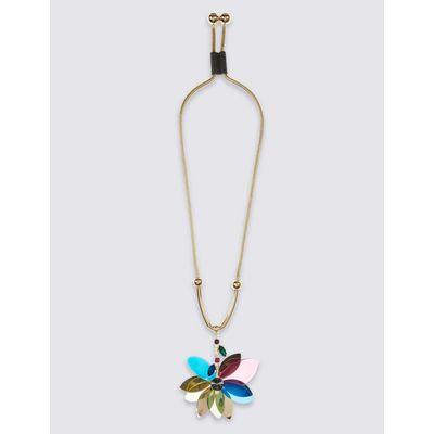 Petal Pendant Necklace multi