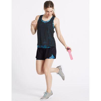 Printed Sports Shorts teal mix