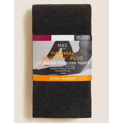 180 Denier Heatgen™ Plus Brushed Thermal Opaque Tights grey
