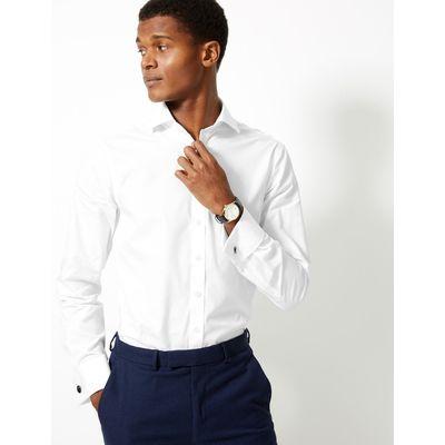 Pure Cotton Slim Fit Shirt white