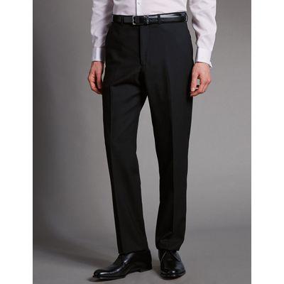 Big & Tall Black Tailored Fit Wool Trousers black