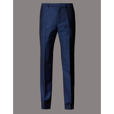 Big & Tall Blue Tailored Fit Wool Trousers blue