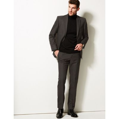 Big & Tall Charcoal Tailored Fit Trousers charcoal