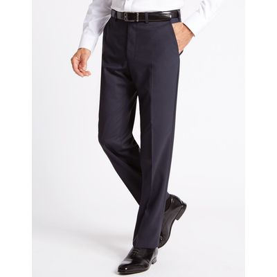 Big & Tall Navy Tailored Fit Wool Trousers navy