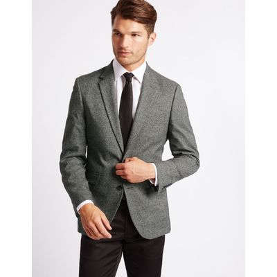 Single Breasted Mouline Jacket grey