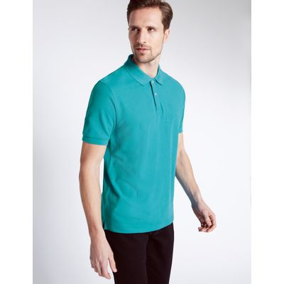Pure Cotton Polo Shirt light teal