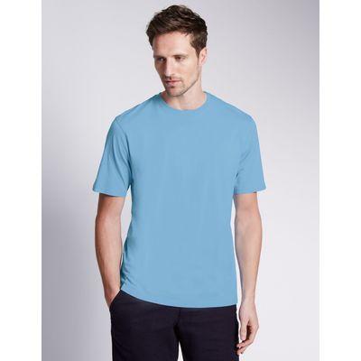 Big & Tall Pure Cotton Crew Neck T-Shirt pale blue