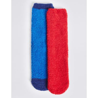 2 Pairs of Cosy Socks (1-14 Years) red