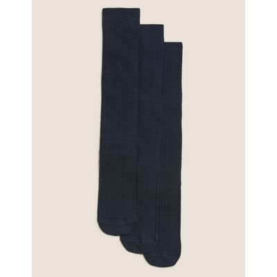 3 Pairs of Cotton Rich Socks with Freshfeet™ (3-14 Years) navy