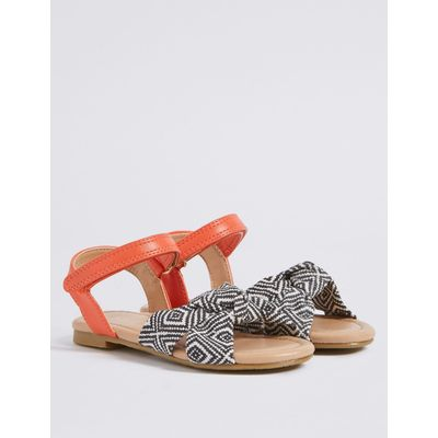 Kids' Knotted Riptape Sandals orange mix