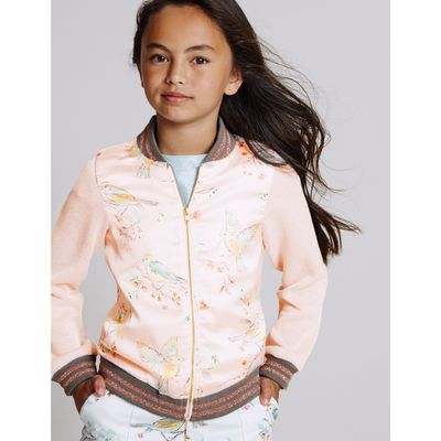 Cotton Rich Printed Bomber Jacket (3-14 Years) coral mix