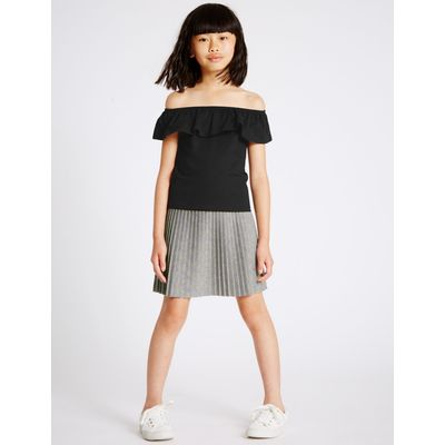 2 Piece Top & Skirt Outfit (3-14 Years) black mix