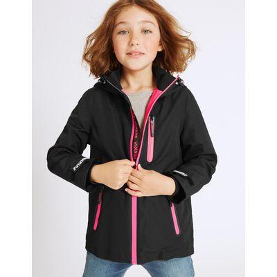 Long Sleeve Hooded Coat (3-16 Years) black