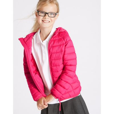 Zipped Through Padded Coat (3-16 Years) pink