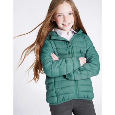 Lightweight Padded Coat (3-16 Years) teal green
