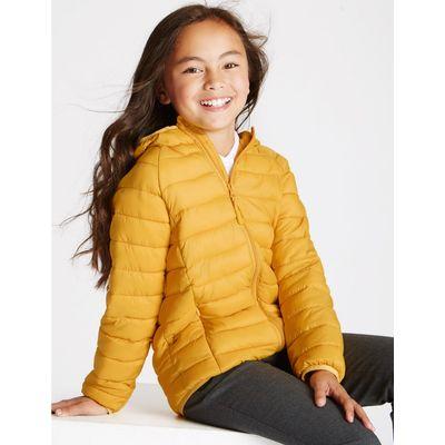 Lightweight Padded Coat (3-16 Years) dark yellow