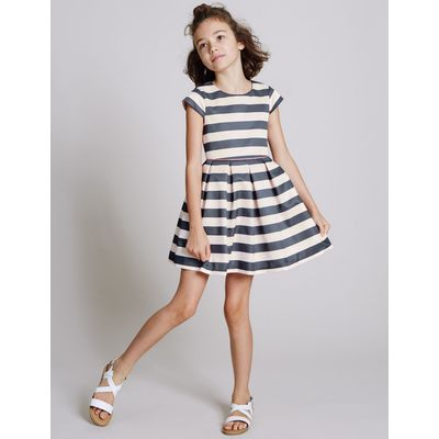 Striped Prom Dress (3-14 Years) pale pink mix