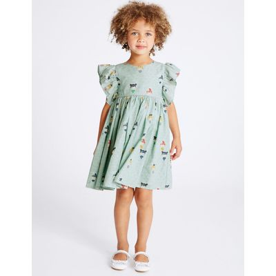 Pure Cotton Prom Dress (3 Months - 5 Years) sea green