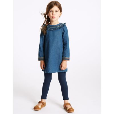 2 Piece Dress with Leggings Outfit (3 Months - 5 Years) denim