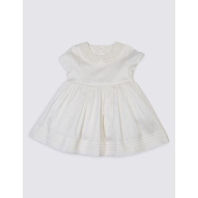 Peter Pan Collar Christening Dress ivory