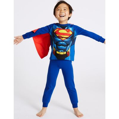 Superman™ Cotton with Stretch Pyjamas (2-10 Years) blue mix
