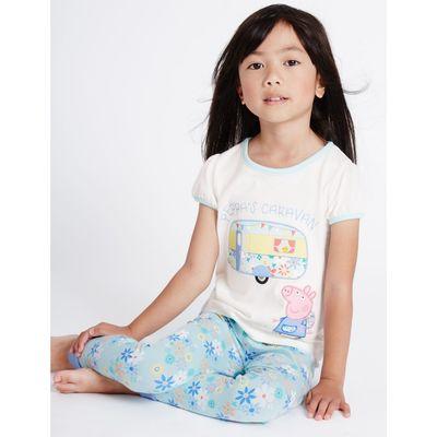 Peppa Pig™ Short Sleeve Pyjamas (1-7 Years) aqua mix