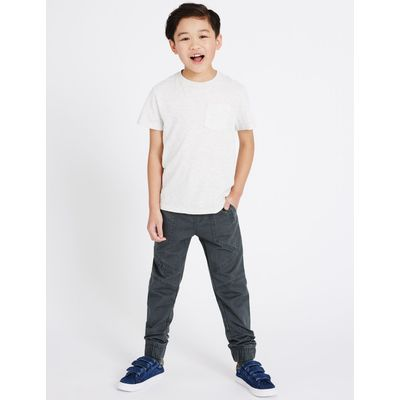 Pure Cotton Cargo Trousers (5-14 Years) navy