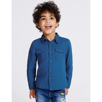 Pure Cotton Shirt (3 Months - 5 Years) blue