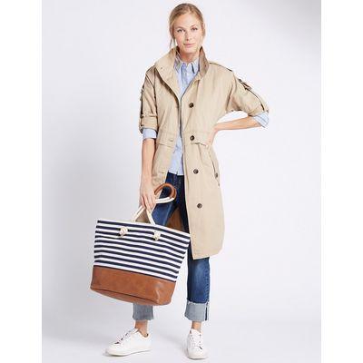 M&S Collection Nautical Shopper Bag