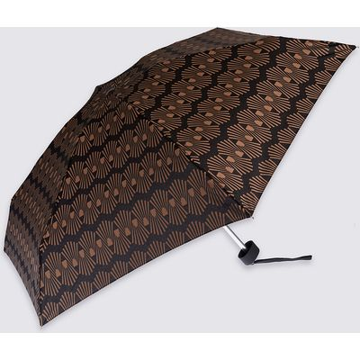M&S Collection Decorative Geo Compact Umbrella with Stormwear