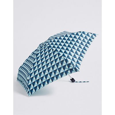 M&S Collection Spotted Compact Umbrella with Stormwear