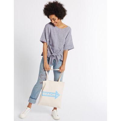 M&S Collection Pure Cotton Printed Canvas Shopper Bag