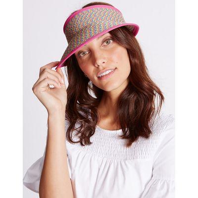 M&S Collection Marl Weave Visor Summer Hat