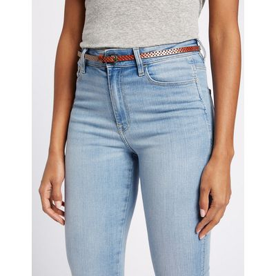 M&S Collection 2 Pack Leather Skinny Hip Belts