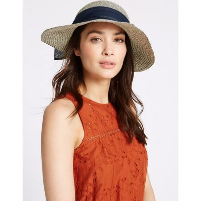 M&S Collection Marl Scarf Summer Hat
