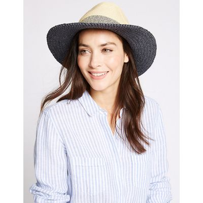 M&S Collection Colour Block Fedora