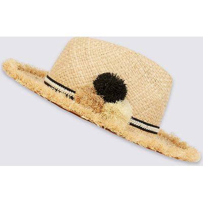 M&S Collection Pom-Pom Fedora Hat