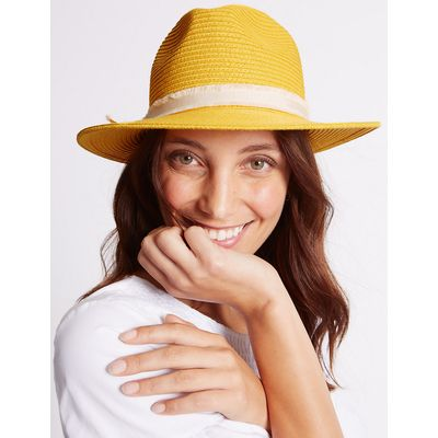 M&S Collection Bow Fedora Hat