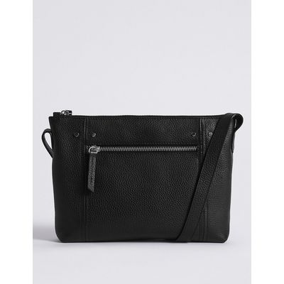 M&S Collection Leather Across Body Bag