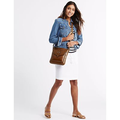 M&S Collection Leather Buckle Across Body Bag