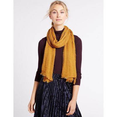 M&S Collection Crinkle Scarf