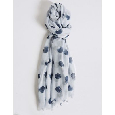 M&S Collection Spot Print Scarf