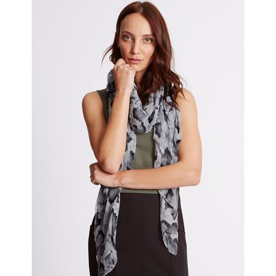 M&S Collection Gothic Print Scarf