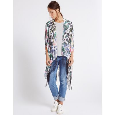 M&S Collection Pure Modal Floral Print Kimono