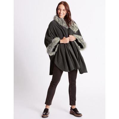 M&S Collection Faux Fur Fleece Wrap