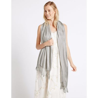 M&S Collection Sparkle Pashminetta Scarf