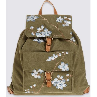 M&S Collection Embroidered Rucksack Bag