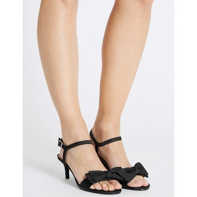 M&S Collection Kitten Heel Bow Sandals