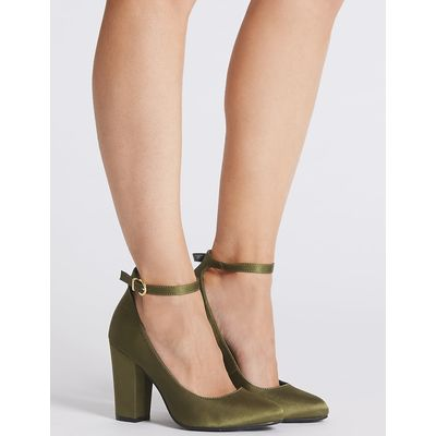 M&S Collection Ankle Strap Court Shoes