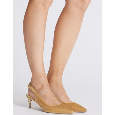 M&S Collection Kitten Heel Slingback Court Shoes